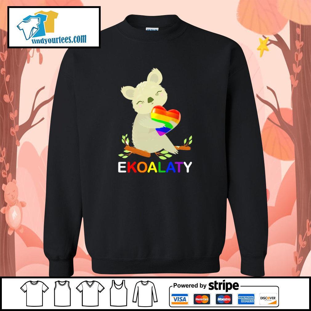Ekoalaty hug heart LGBT s sweater