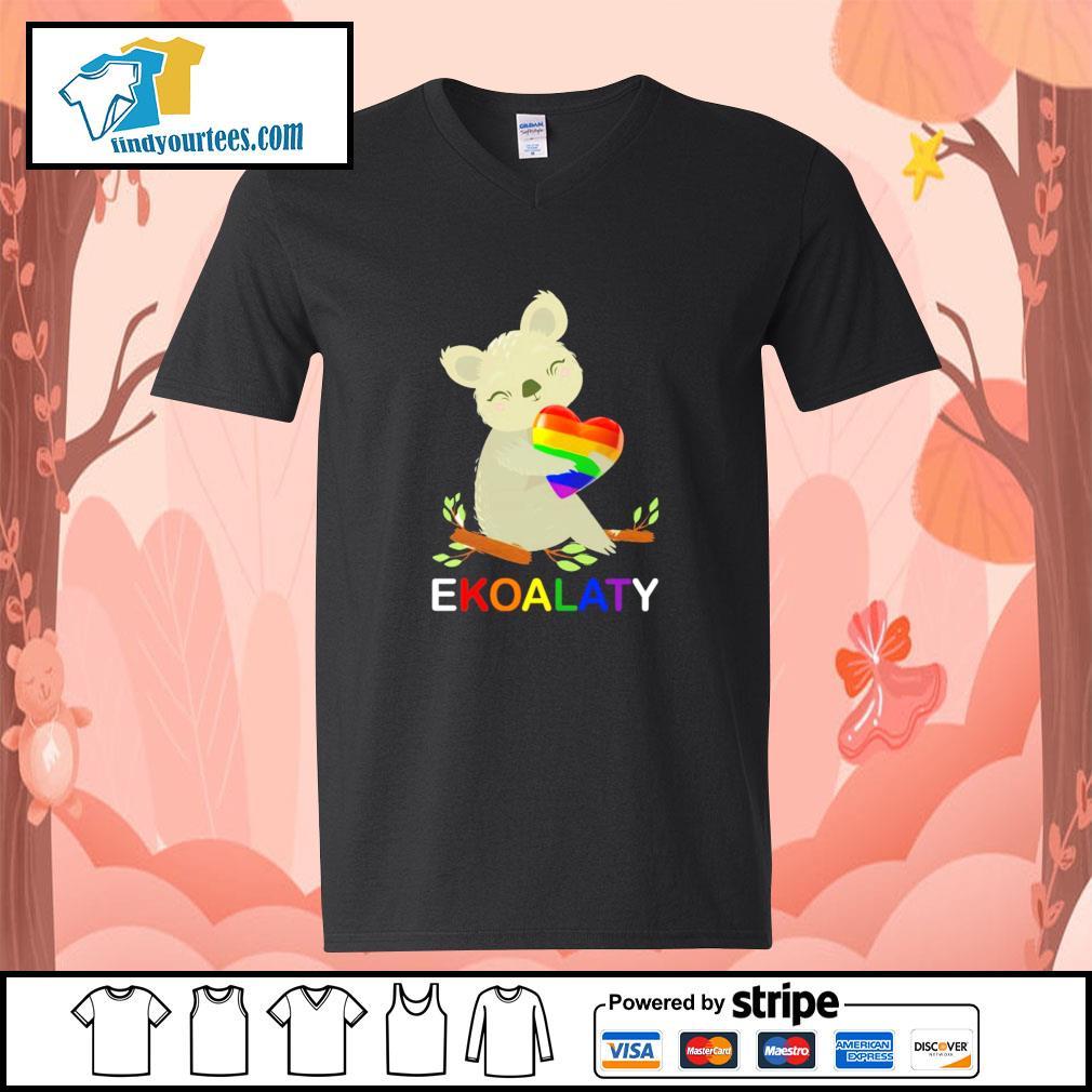 Ekoalaty hug heart LGBT s v-neck-t-shirt