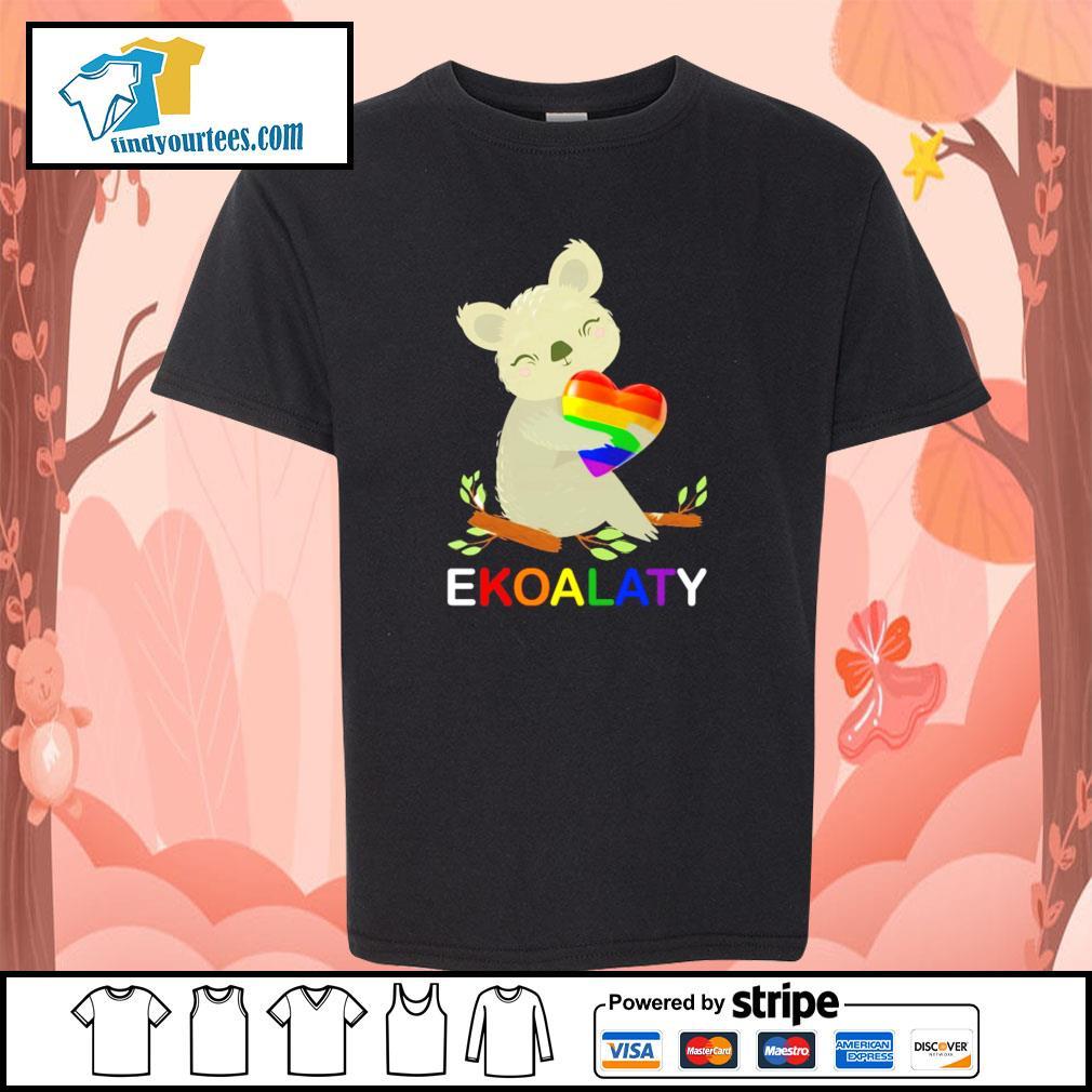 Ekoalaty hug heart LGBT s youth-tee