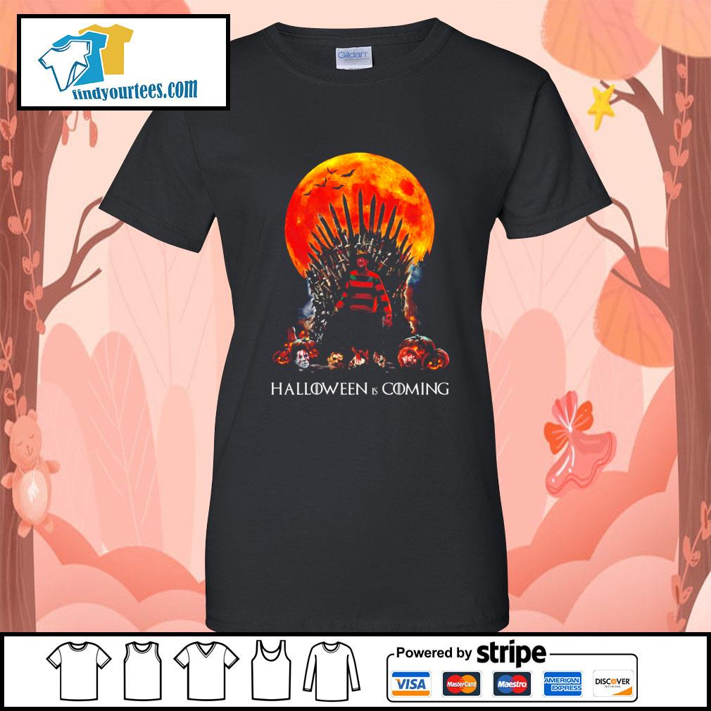 Freddy Krueger King Halloween is coming s Ladies-Tee