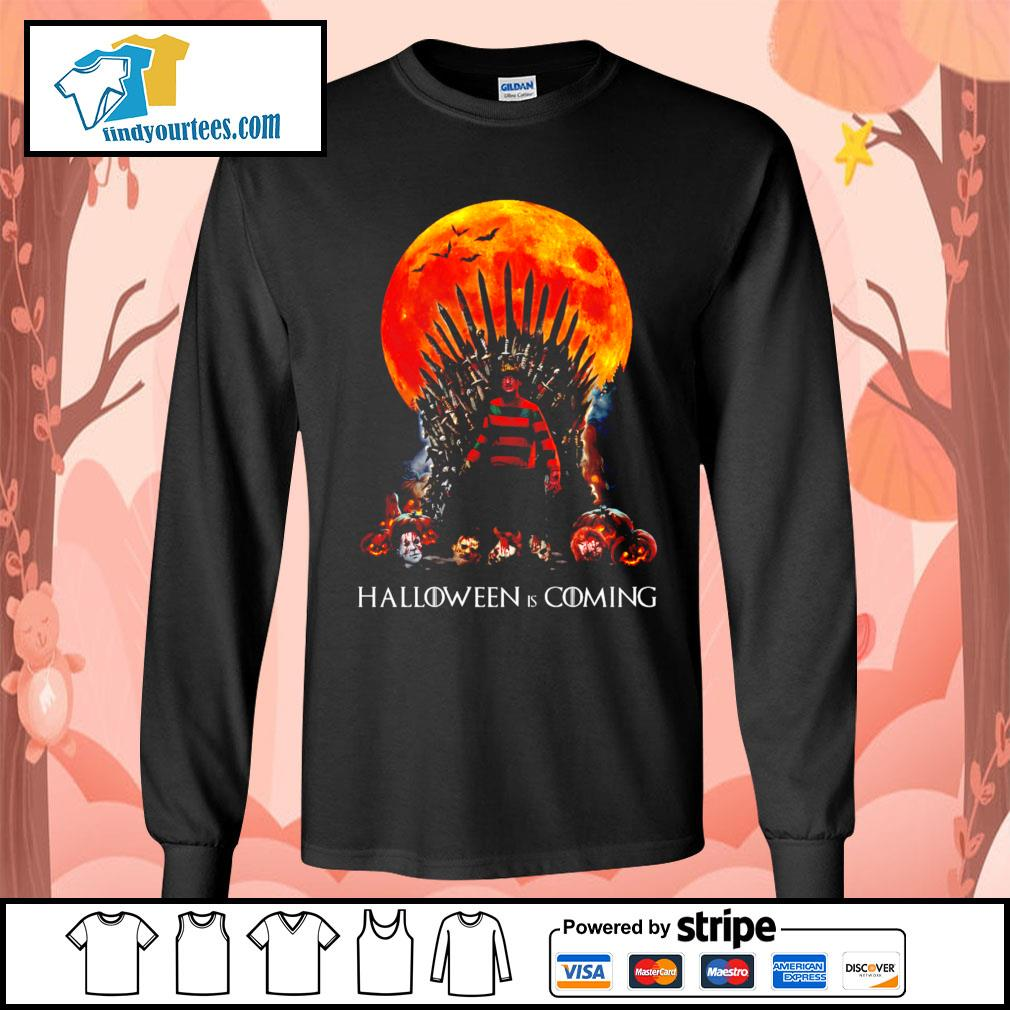 Freddy Krueger King Halloween is coming s Long-Sleeves-Tee