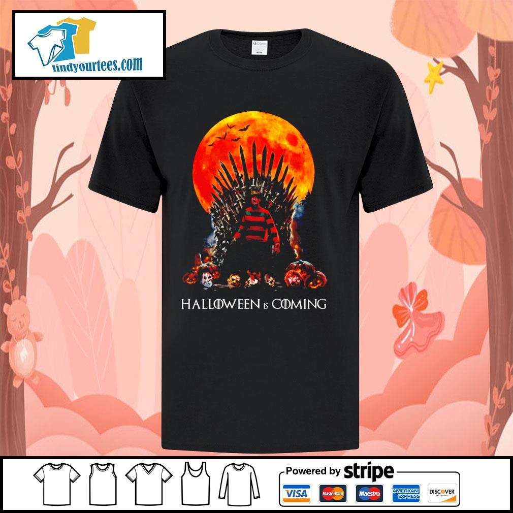 Freddy Krueger King Halloween is coming shirt