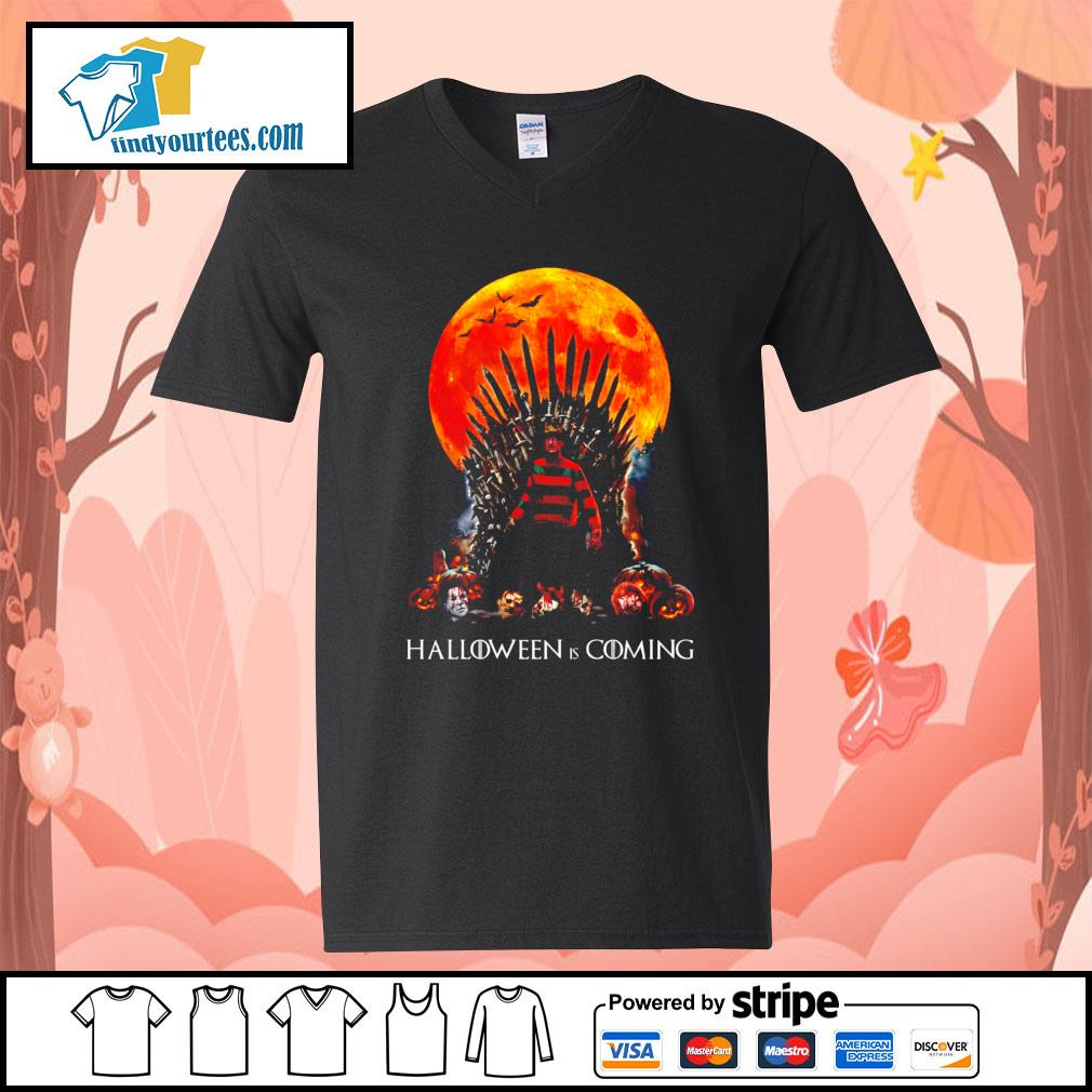 Freddy Krueger King Halloween is coming s V-neck-T-shirt