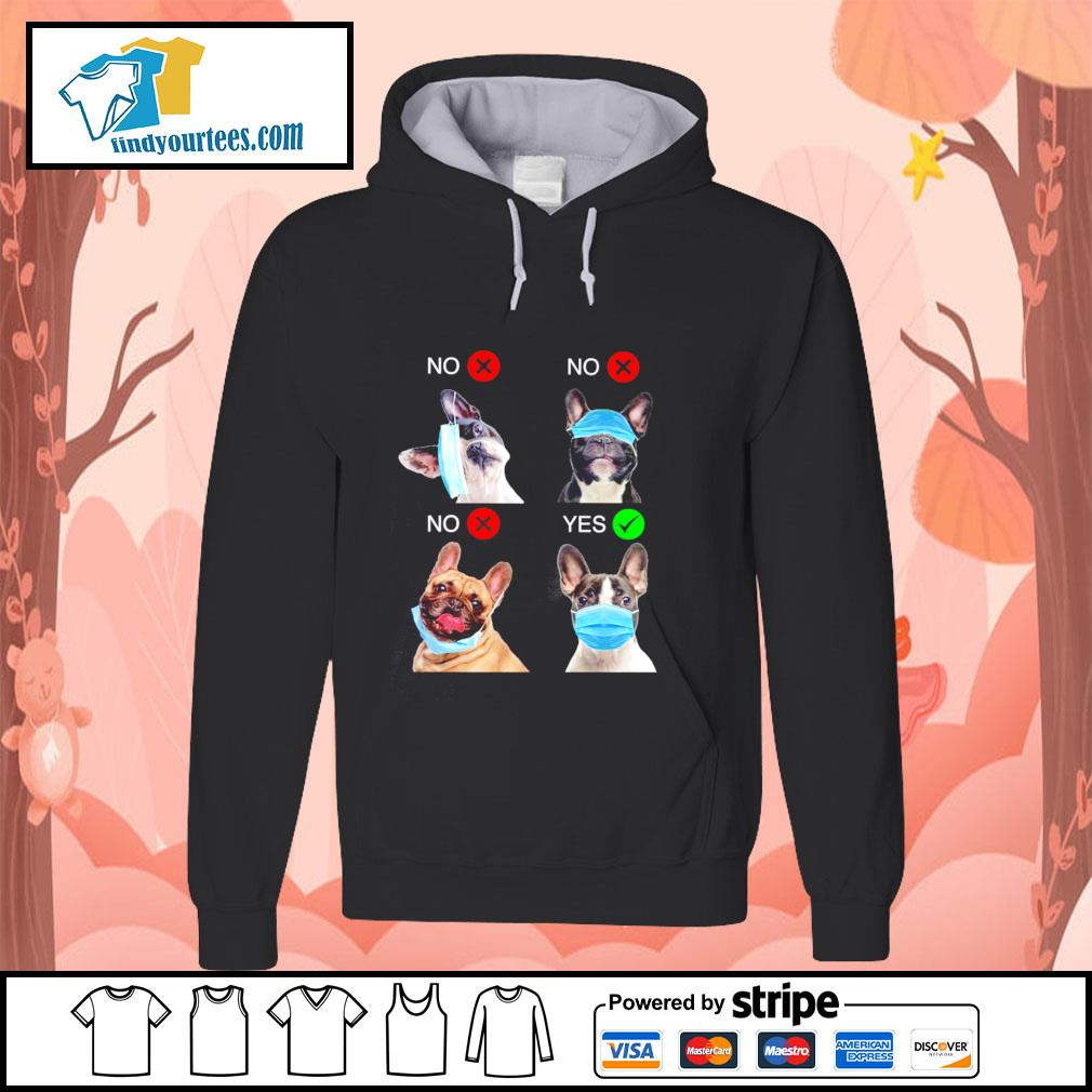 French bulldog right wear the mask s hoodie