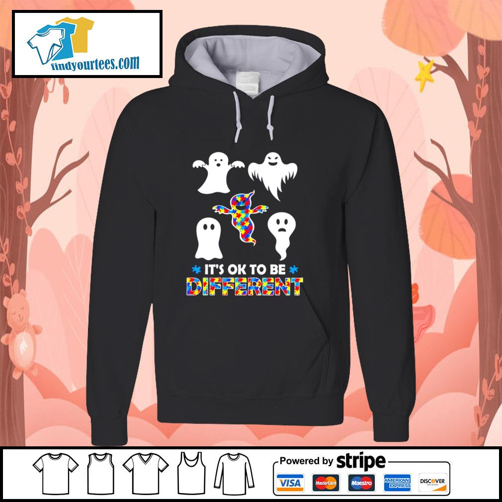 Ghost autism it's ok to be different s hoodie