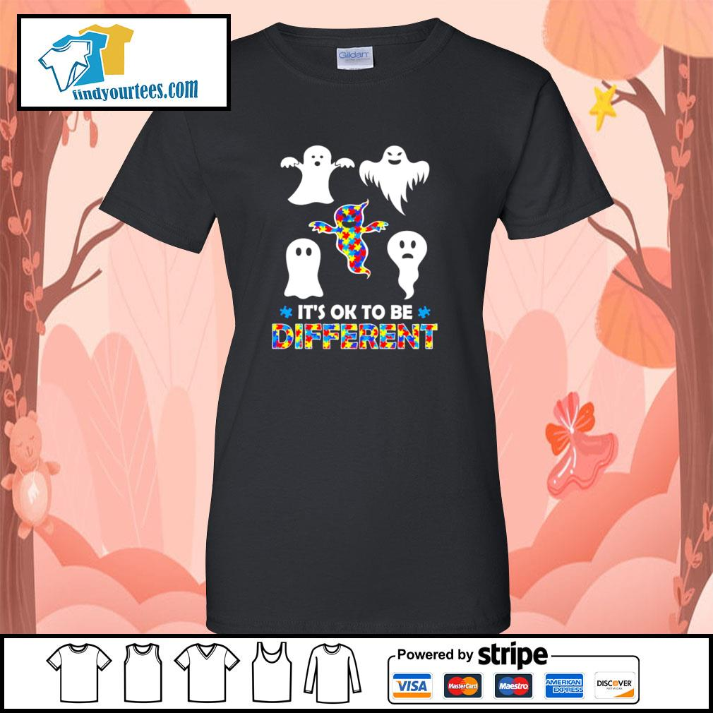 Ghost autism it's ok to be different s ladies-tee