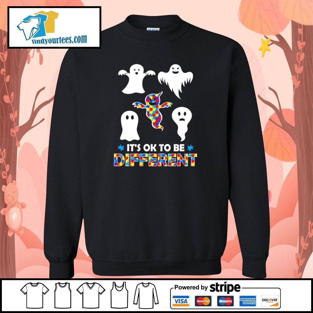 Ghost autism it's ok to be different s sweater