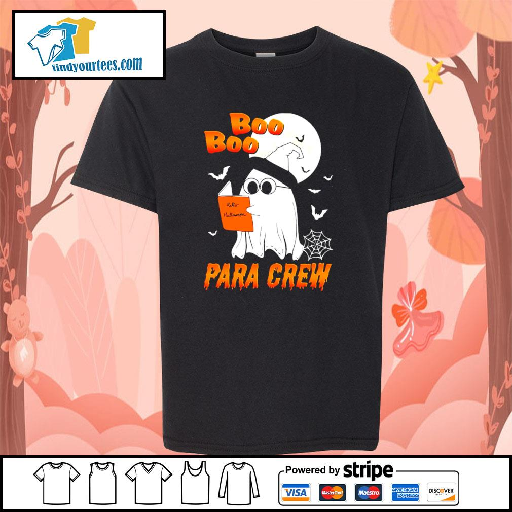 Ghost boo para crew para book halloween s youth-tee