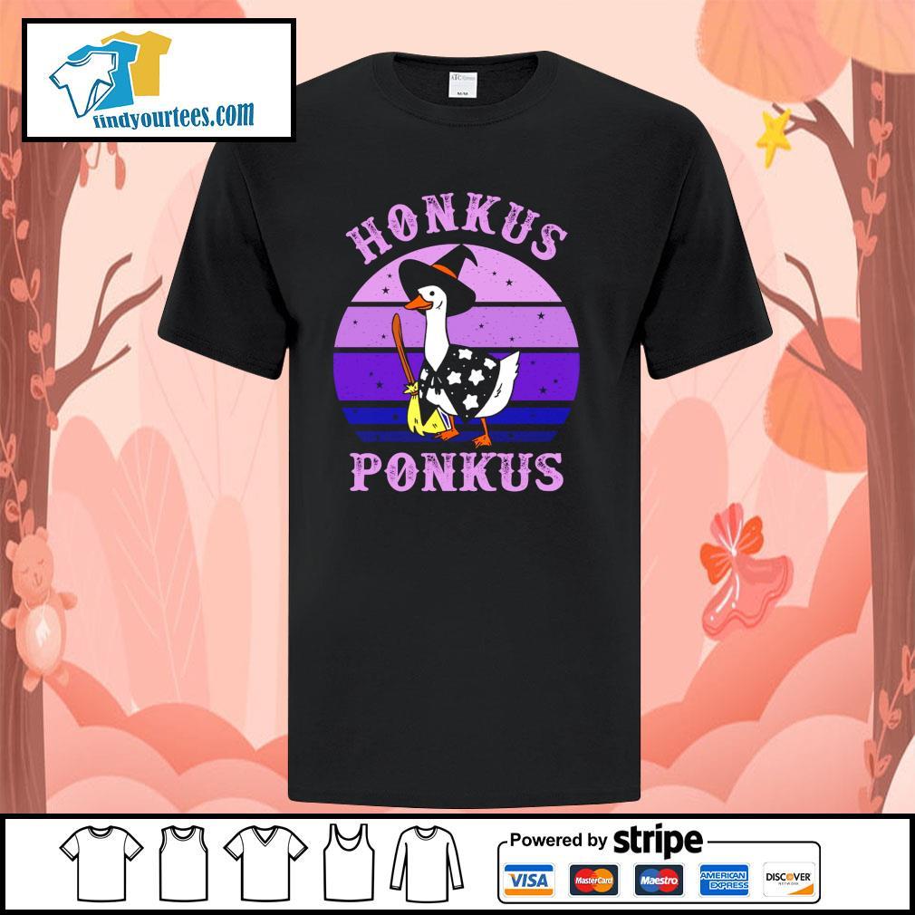 Goose witch honkus ponkus purple shirt