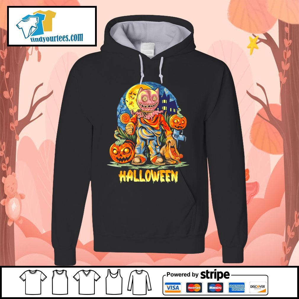 Halloween Night and pumpkins artwork premium s Hoodie