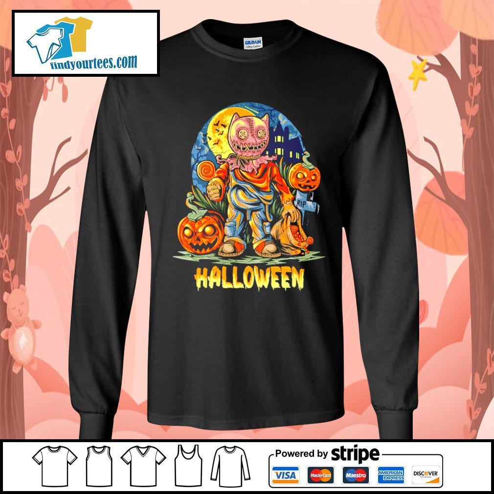 Halloween Night and pumpkins artwork premium s Long-Sleeves-Tee