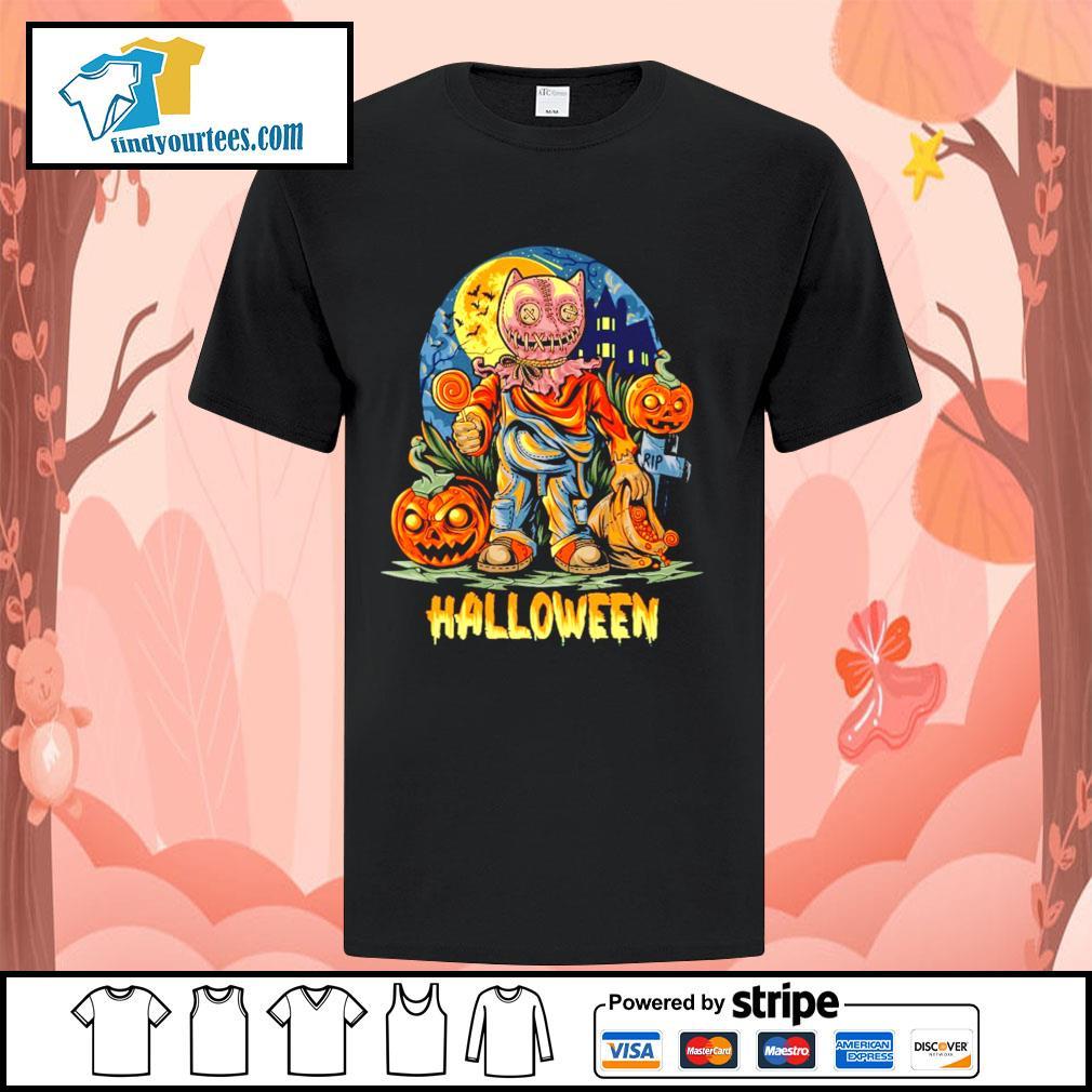 Halloween Night and pumpkins artwork premium shirt