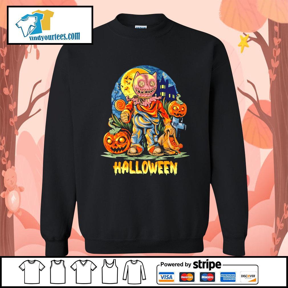 Halloween Night and pumpkins artwork premium s Sweater