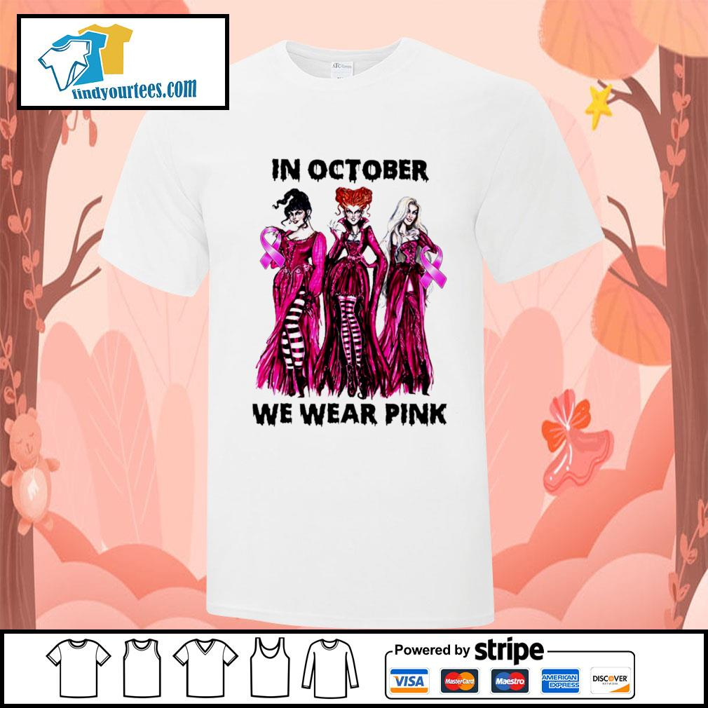 Hocus Pocus in october we wear pink shirt