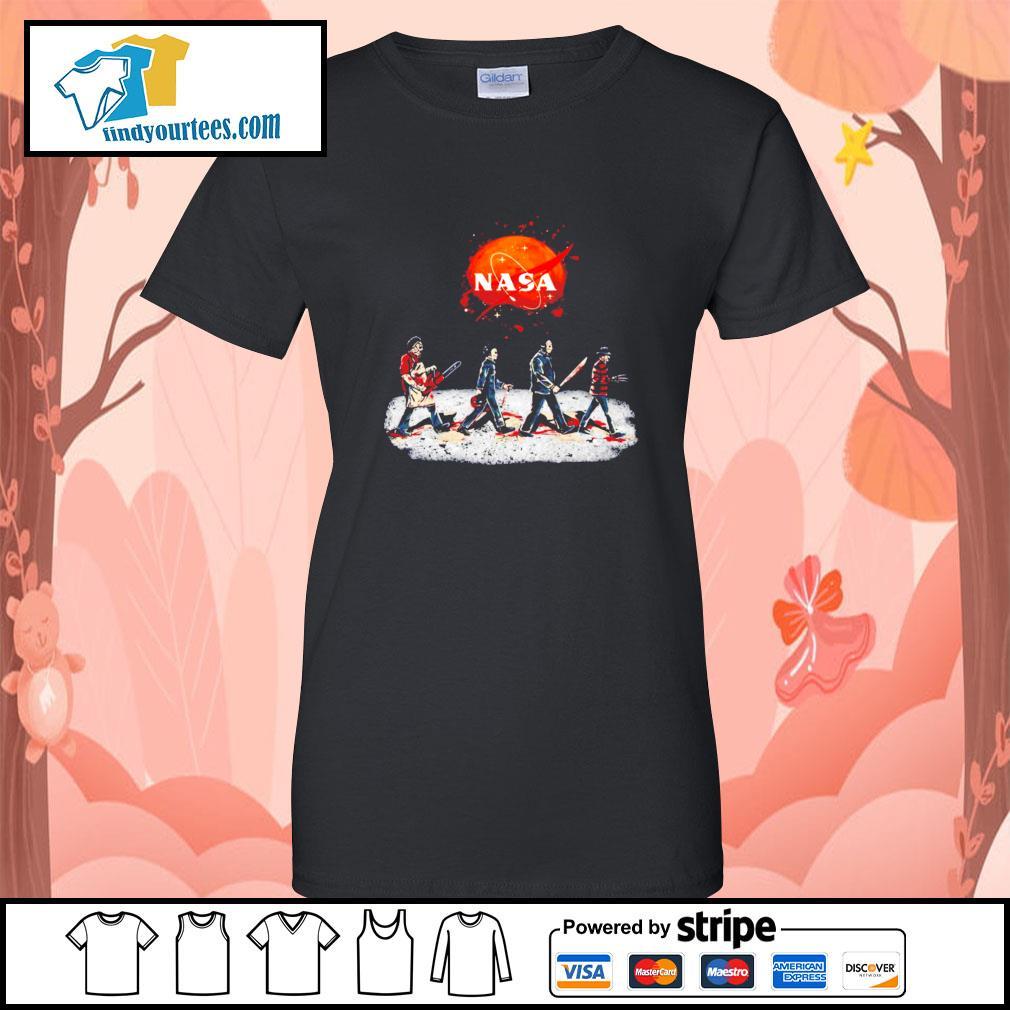 Horror characters abbey road Nasa Halloween s Ladies-Tee