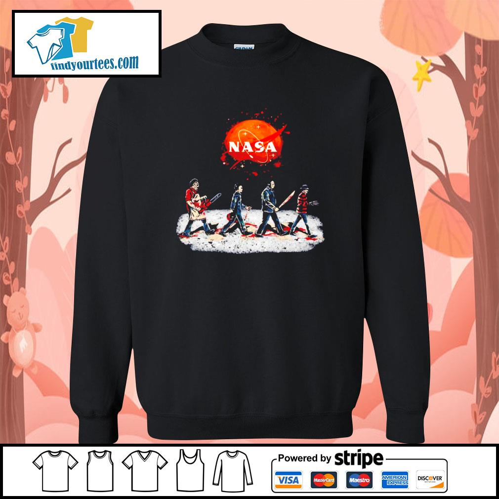 Horror characters abbey road Nasa Halloween s Sweater