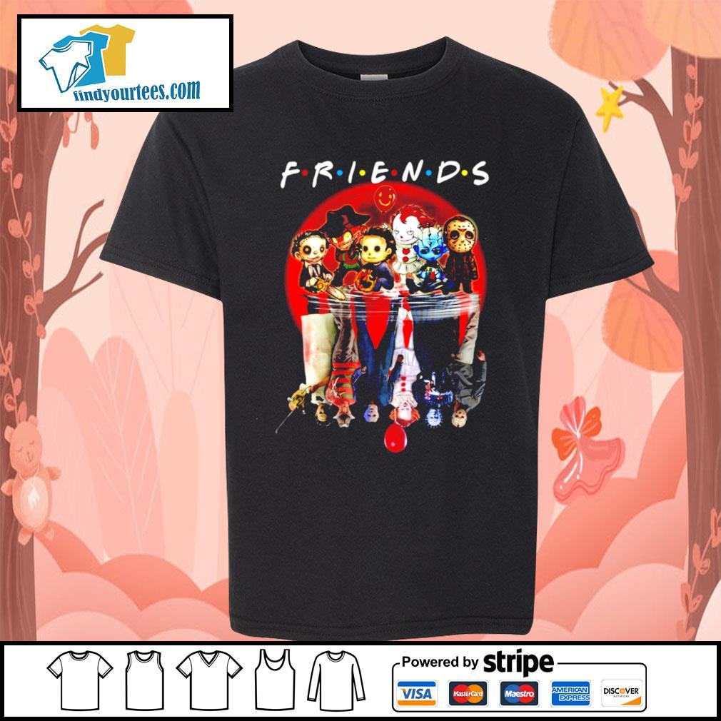 Horror movie character water reflection friends s Kid-T-shirt