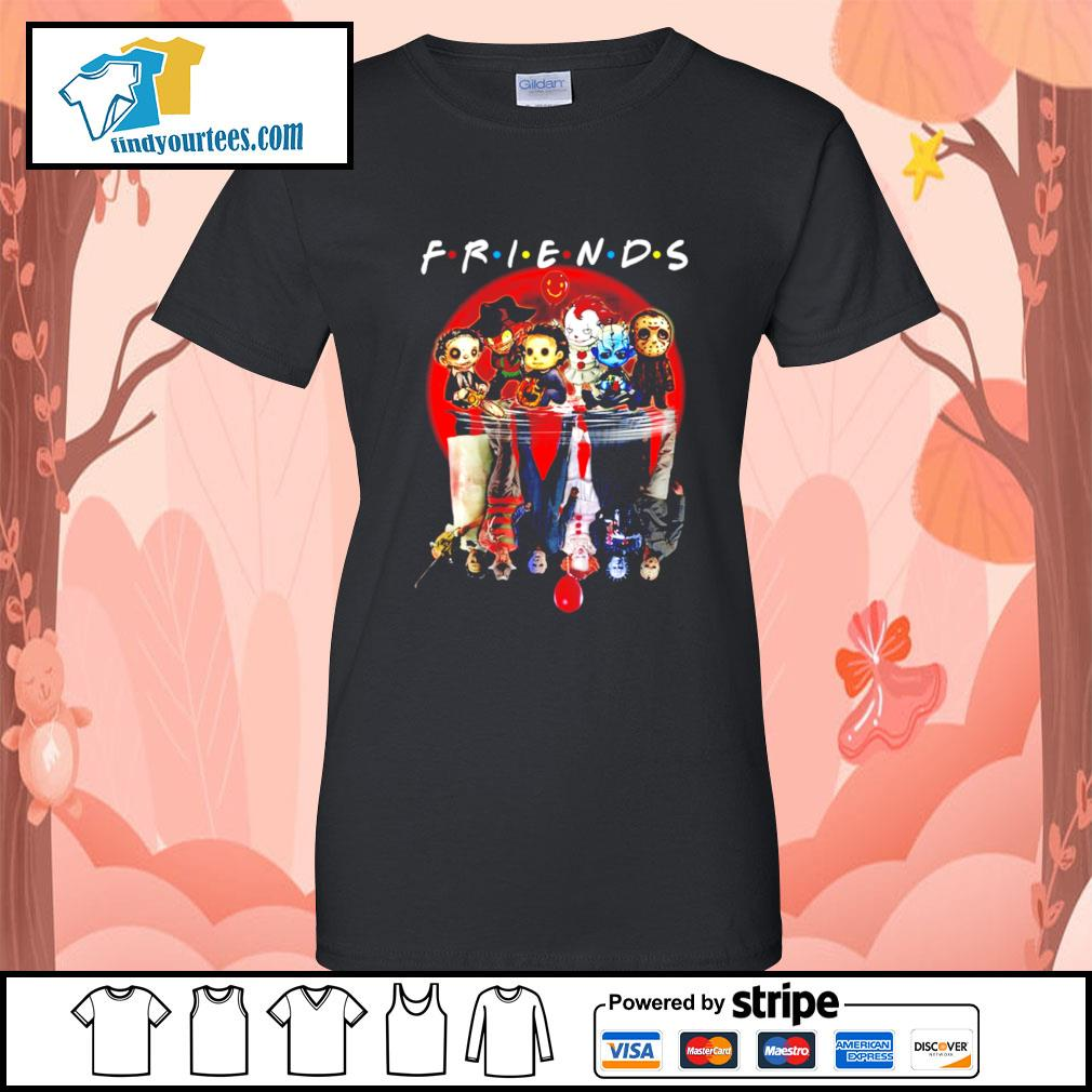 Horror movie character water reflection friends s Ladies-Tee