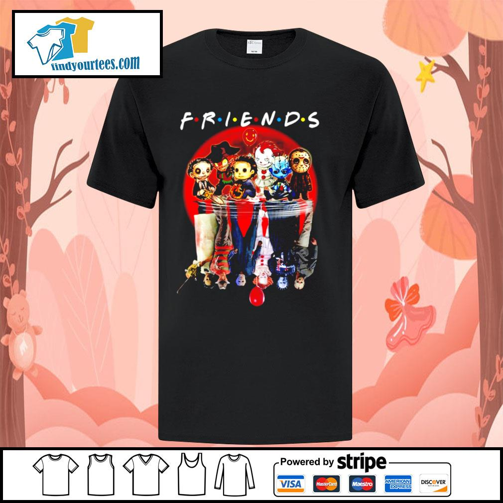 Horror movie character water reflection friends shirt