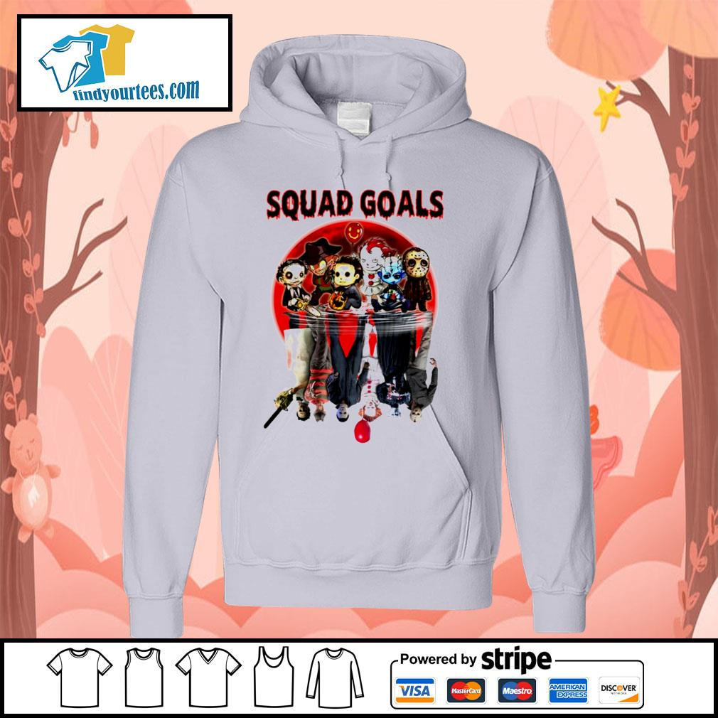 Horror movie character water reflection Squad goals s Hoodie