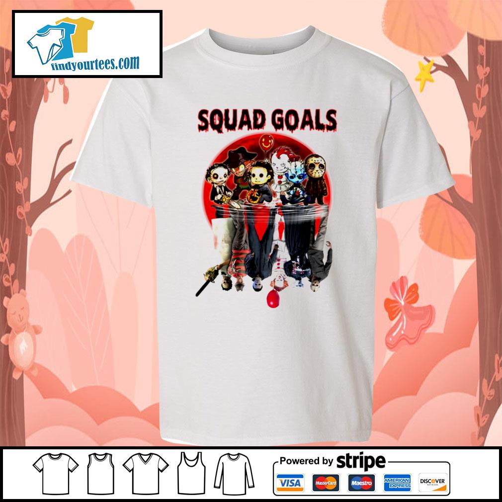 Horror movie character water reflection Squad goals s Kid-T-shirt