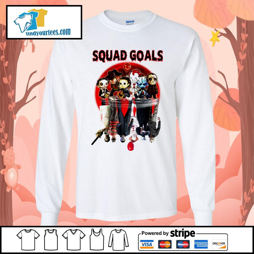 Horror movie character water reflection Squad goals s Long-Sleeves-Tee