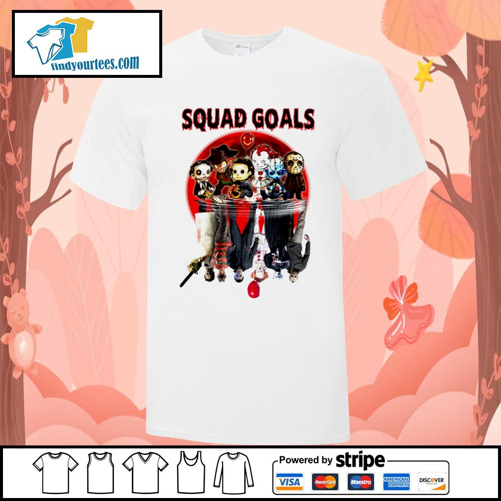Horror movie character water reflection Squad goals shirt