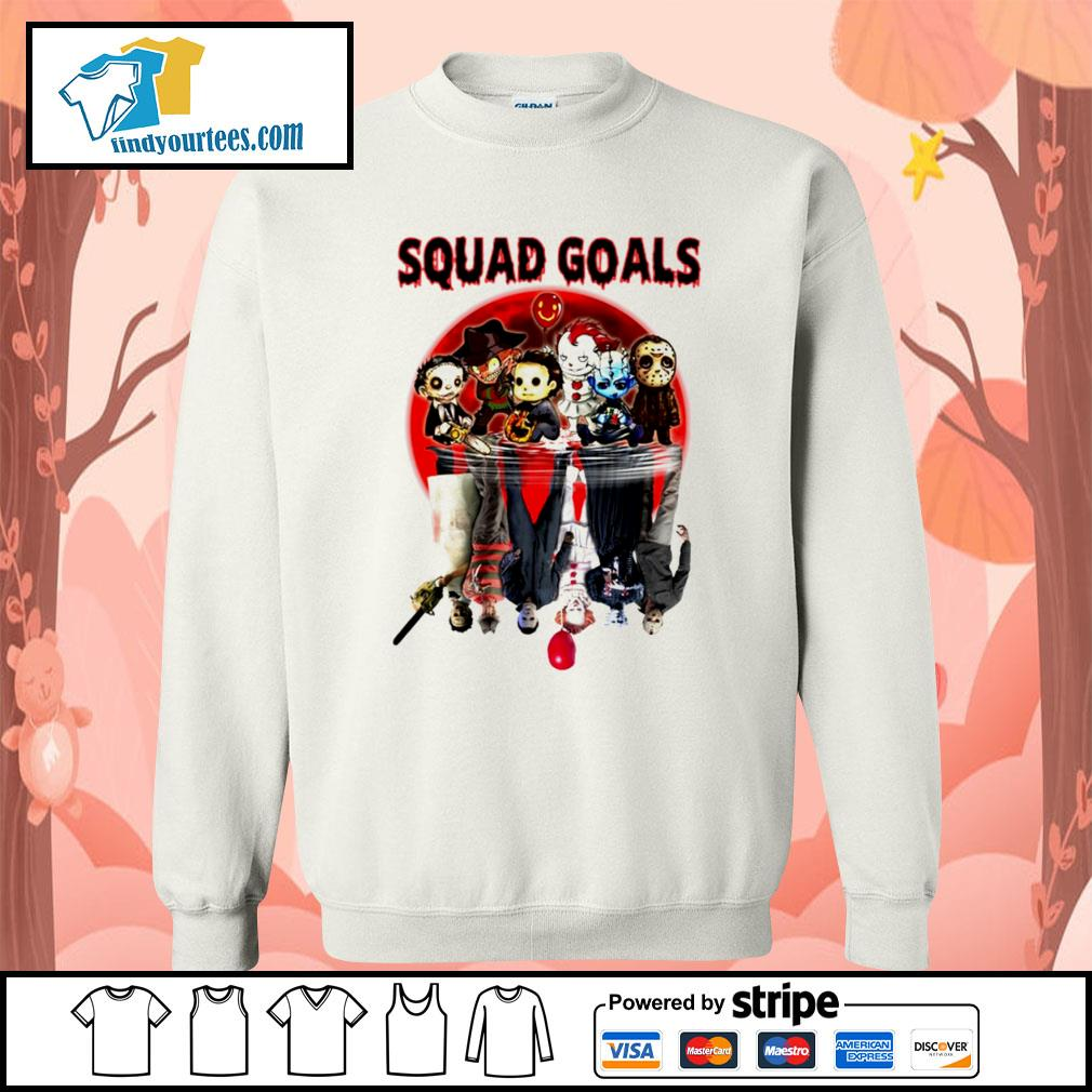 Horror movie character water reflection Squad goals s Sweater