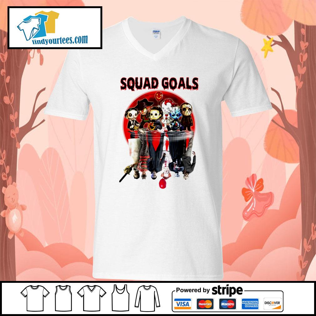 Horror movie character water reflection Squad goals s V-neck-T-shirt