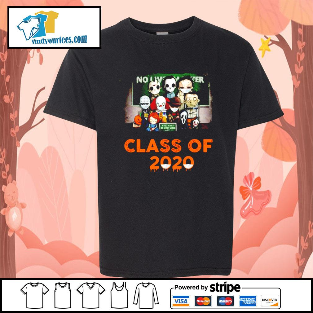 Horror movie characters chibi no lives matter class of 2020 Halloween s Kid-T-shirt