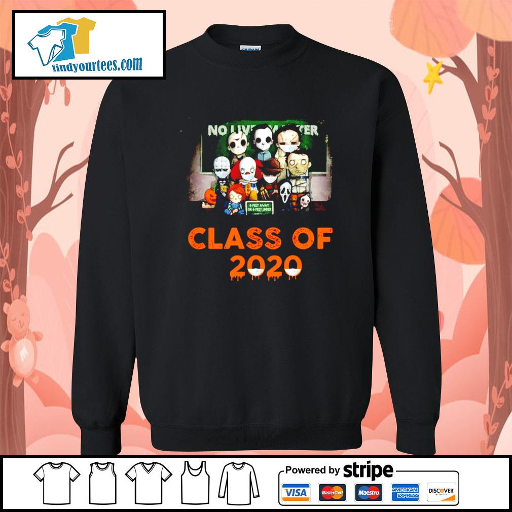 Horror movie characters chibi no lives matter class of 2020 Halloween s Sweater