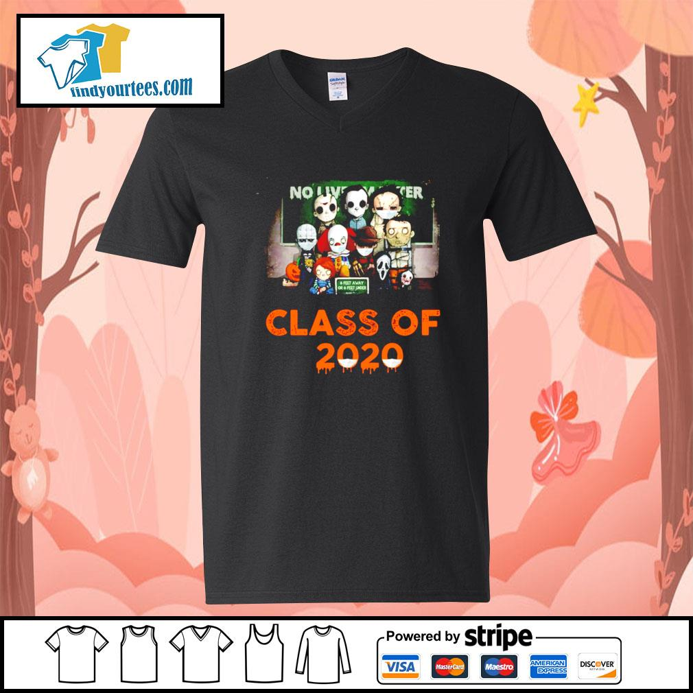 Horror movie characters chibi no lives matter class of 2020 Halloween s V-neck-T-shirt
