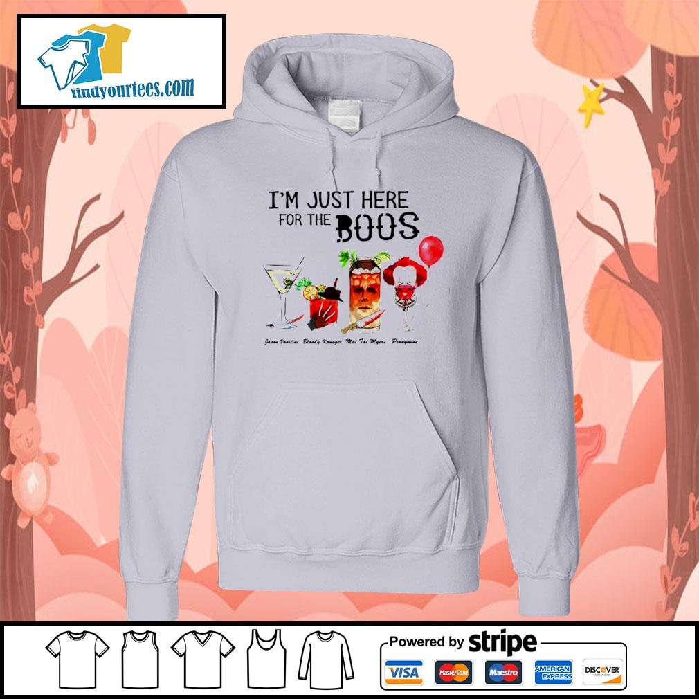 Horror movie characters I'm just here for the boos Halloween s Hoodie