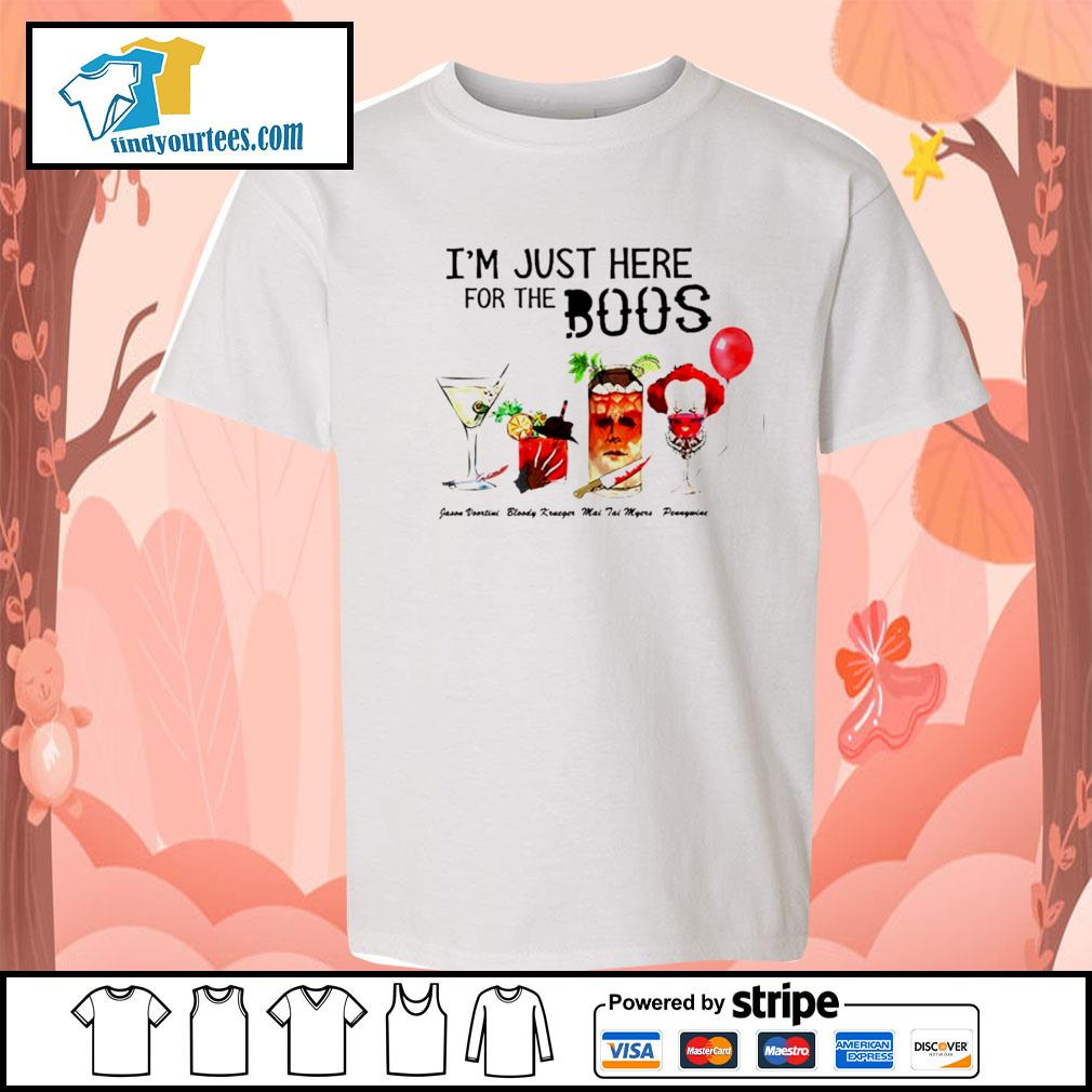 Horror movie characters I'm just here for the boos Halloween s Kid-T-shirt