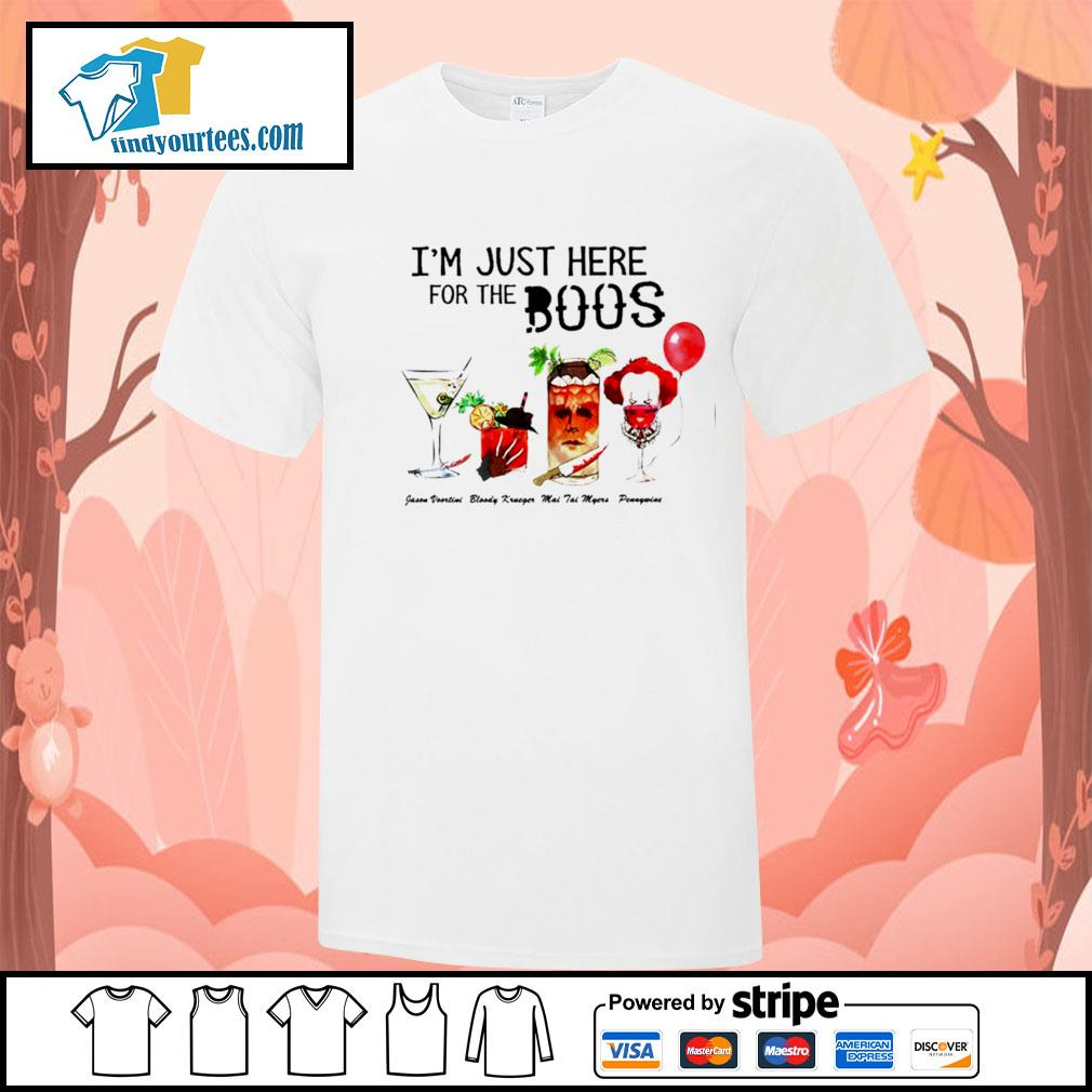 Horror movie characters I'm just here for the boos Halloween shirt