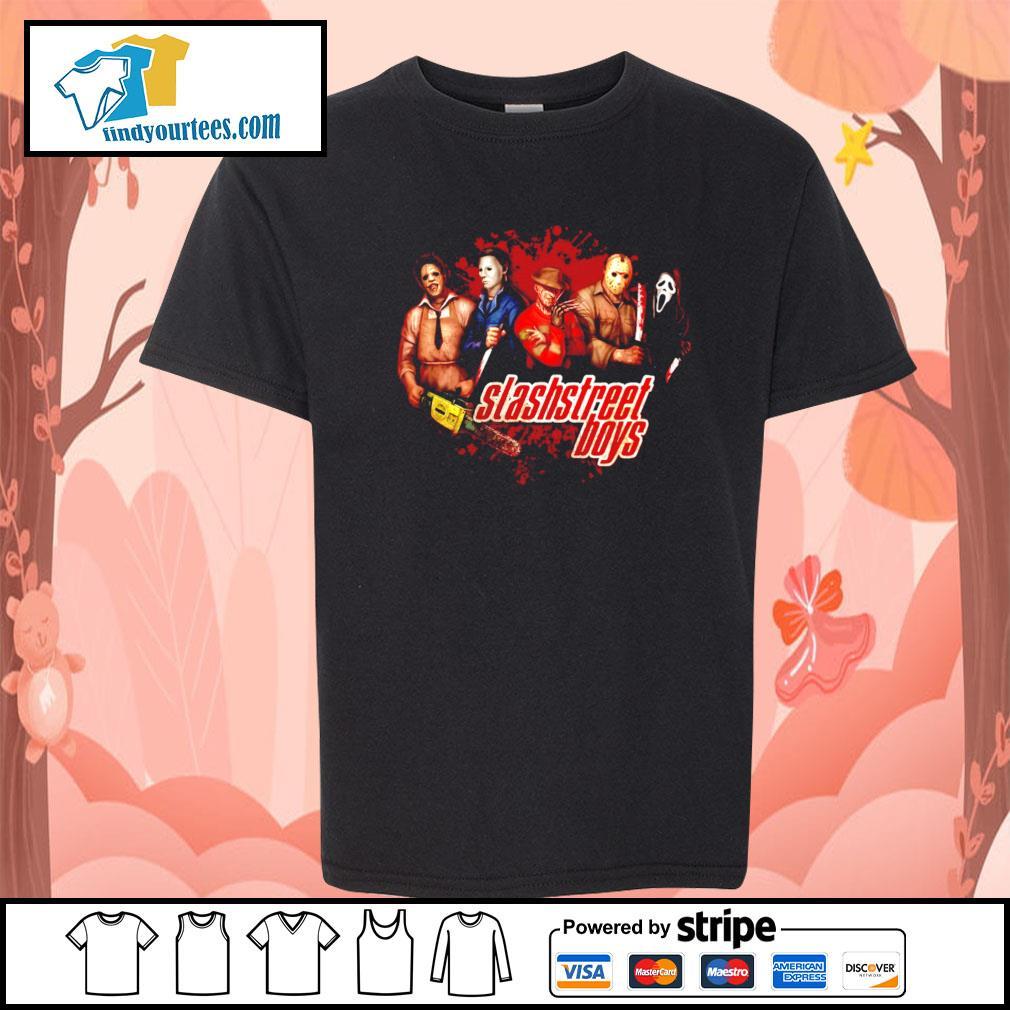 Horror movie characters slashstreet boys s Kid-T-shirt