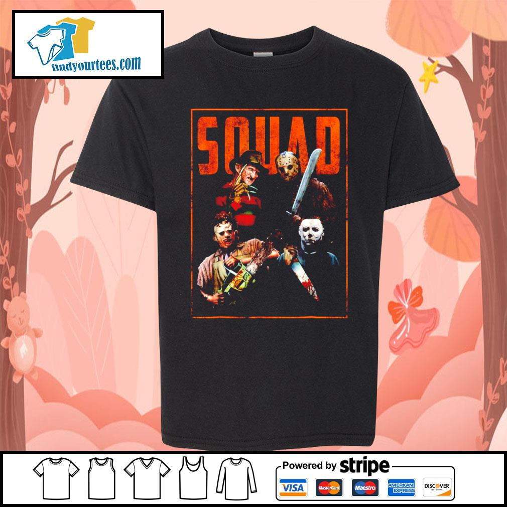 Horror movie characters Squad Halloween s Kid-T-shirt