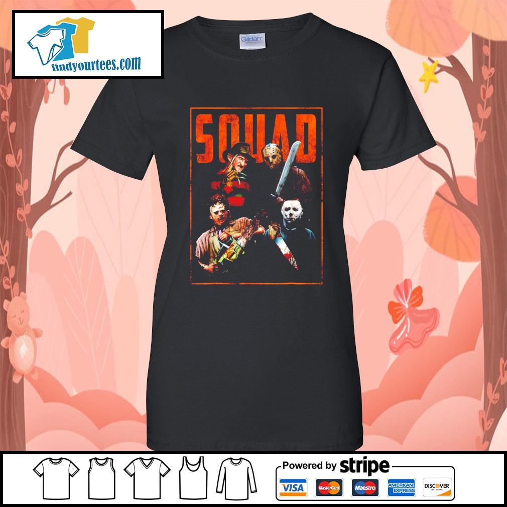 Horror movie characters Squad Halloween s Ladies-Tee