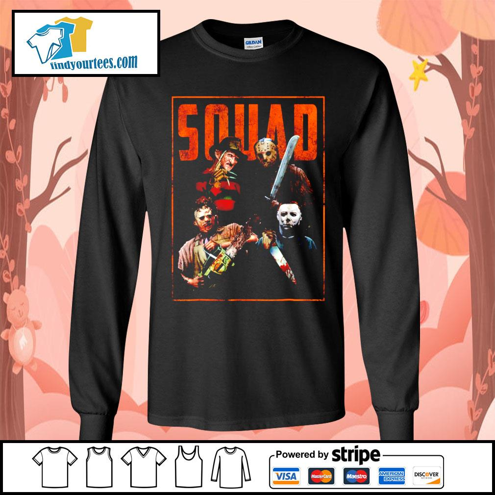 Horror movie characters Squad Halloween s Long-Sleeves-Tee