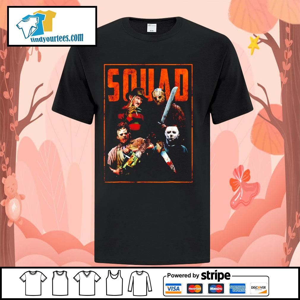 Horror movie characters Squad Halloween shirt