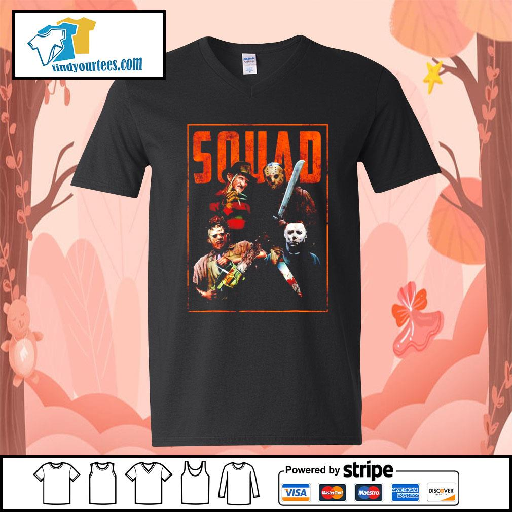 Horror movie characters Squad Halloween s V-neck-T-shirt