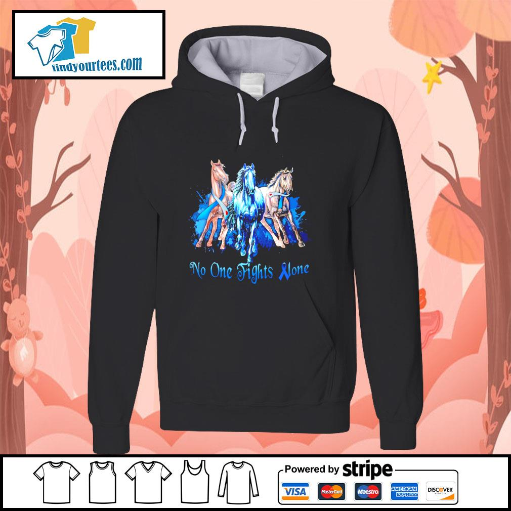 Horse no one fight alone gastric cancer s hoodie