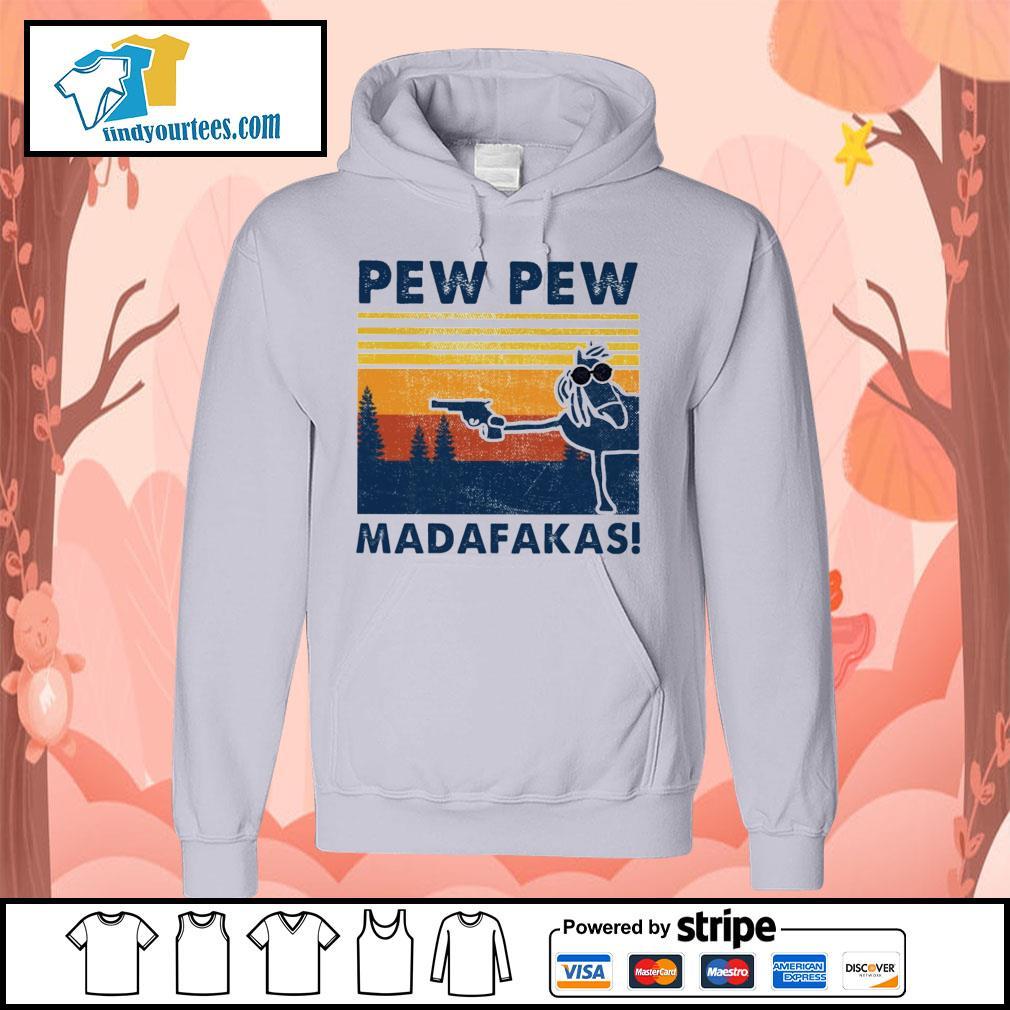 Horse pew pew Madafakas vintage s Hoodie