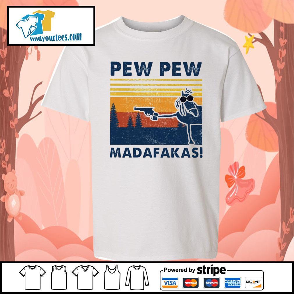 Horse pew pew Madafakas vintage s Kid-T-shirt