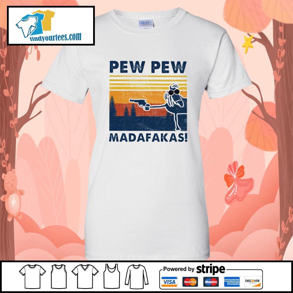 Horse pew pew Madafakas vintage s Ladies-Tee