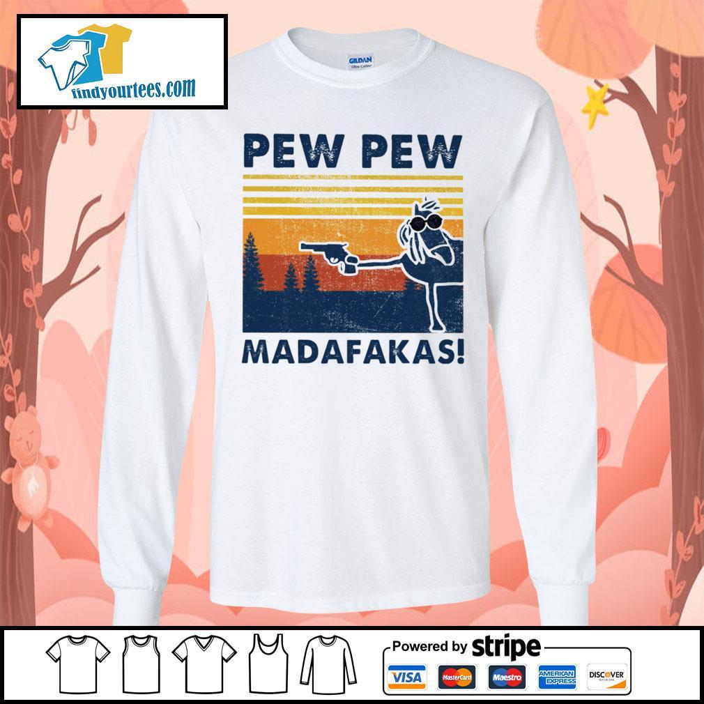 Horse pew pew Madafakas vintage s Long-Sleeves-Tee