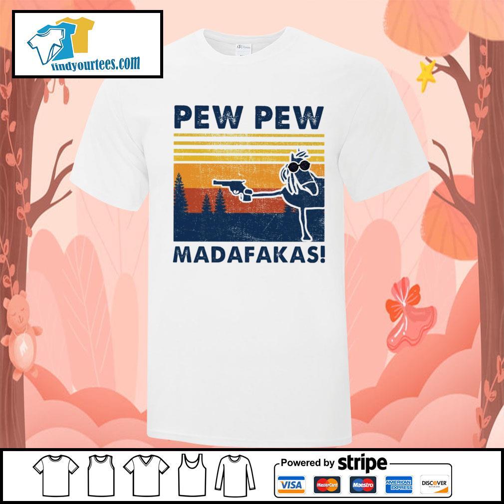 Horse pew pew Madafakas vintage shirt