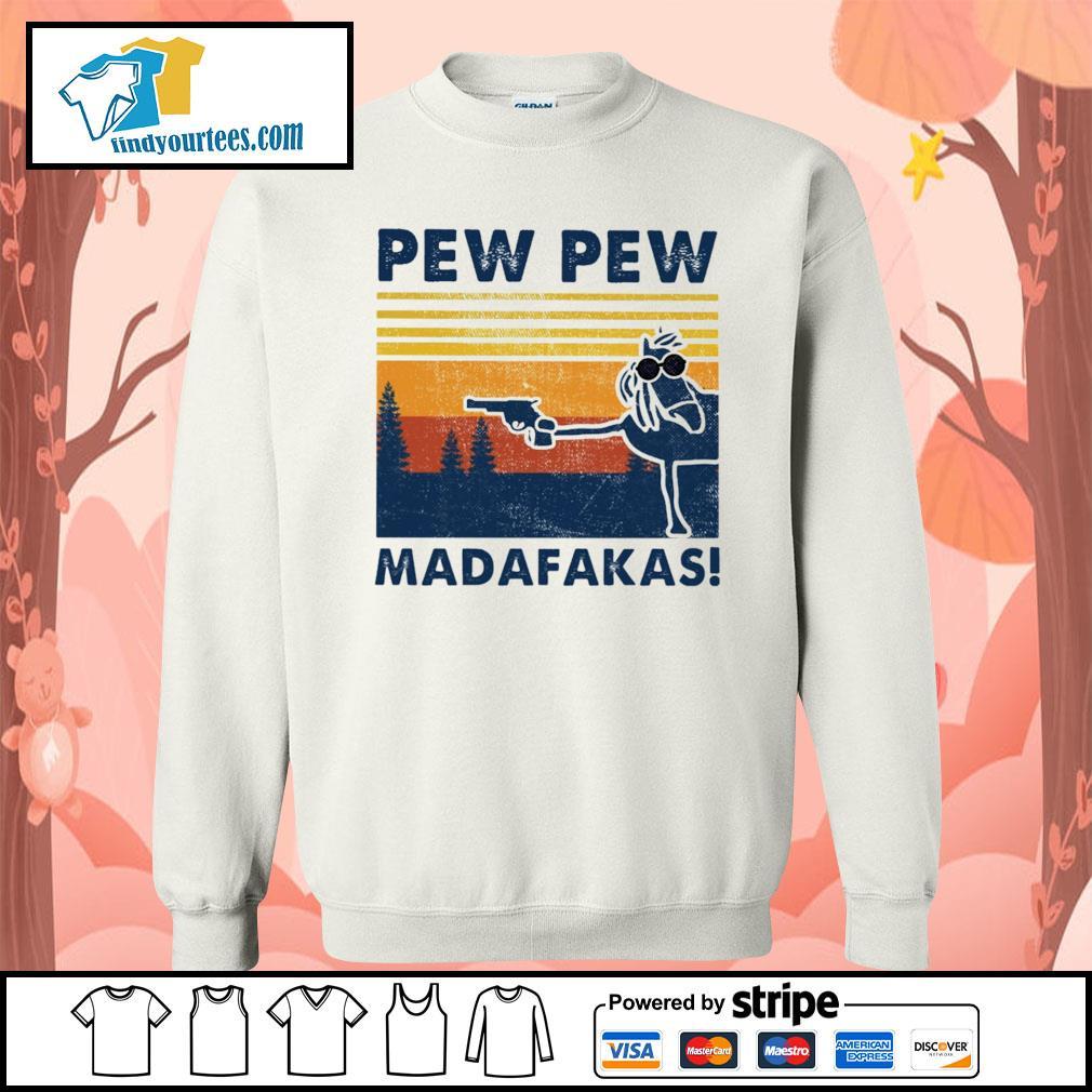Horse pew pew Madafakas vintage s Sweater