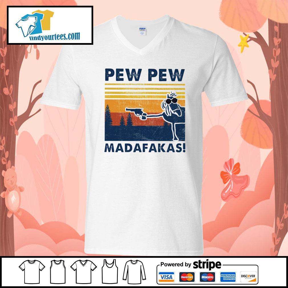 Horse pew pew Madafakas vintage s V-neck-T-shirt