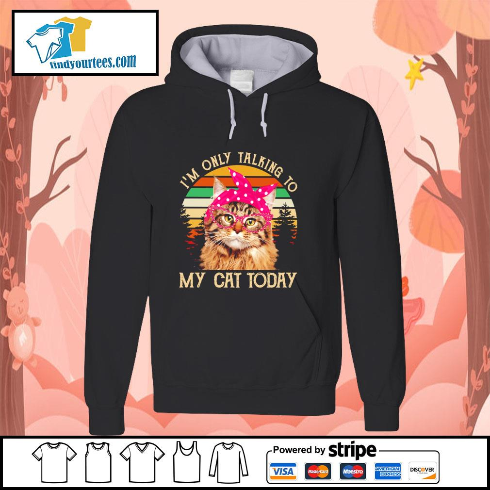 I'm only talking to my cat today vintage s hoodie